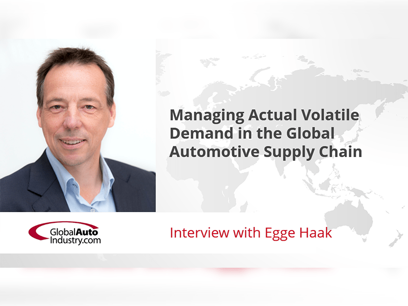 Managing Actual Volatile Demand in the Global Automotive Supply Chain